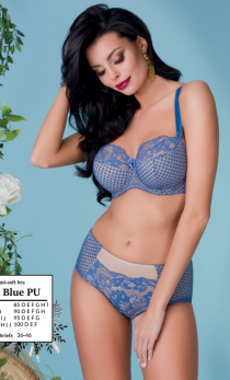 Alles - Biustonosz Night Blue PU semi-soft