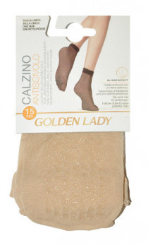 Golden Lady - Skarpetki 16G Antiscivolo ABS 15den 2Pack
